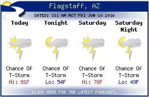 flagstaff arizona weather at J & H RV Park