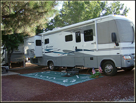 big rig rvs are welcome at j & h rv park in flagstaff az