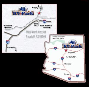 finding J & H RV Park in Flagstaff AZ
